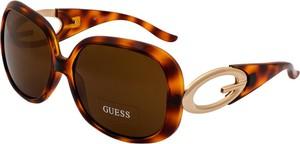 Brązowe okulary damskie Guess
