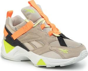 Buty sportowe Reebok z zamszu sznurowane