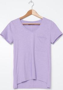 T-shirt House z krótkim rękawem z okrągłym dekoltem z bawełny