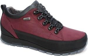 Bordowe buty zimowe NIK sznurowane