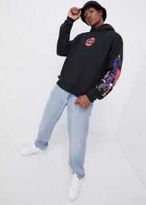 Czarna bluza Converse z nadrukiem z dzianiny