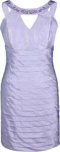 Niebieska sukienka Fokus mini bandażowa