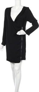 Czarna sukienka BELAIR z długim rękawem