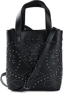Czarna torebka Love Moschino ze skóry ekologicznej do ręki