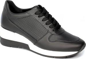 Czarne buty sportowe Sala ze skóry