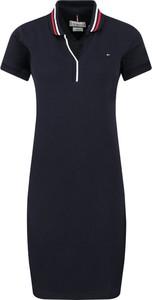Sukienka Tommy Hilfiger z kołnierzykiem w stylu casual mini