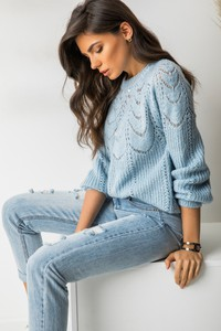 Sweter Exquiss`s z dzianiny w stylu casual