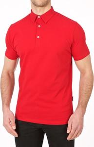 Czerwona koszulka polo Lanieri w stylu casual