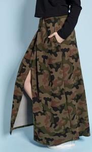 Brązowa spódnica Madnezz w militarnym stylu