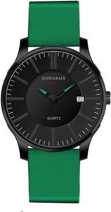 Zielony zegarek chronos zegarki kwarcowe