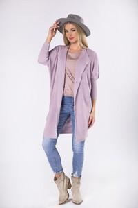 Różowy sweter Moda Dla Ciebie z wełny w stylu casual