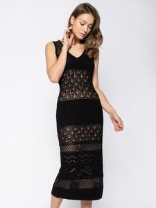 Sukienka Twinset midi bez rękawów z dekoltem w kształcie litery v