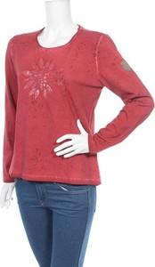 Bluzka Almgwand w młodzieżowym stylu z długim rękawem z okrągłym dekoltem