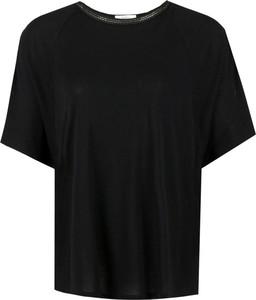 Czarna bluzka Pepe Jeans w stylu casual