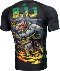 T-shirt Pit Bull w młodzieżowym stylu z nadrukiem z krótkim rękawem