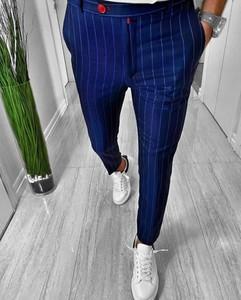 Niebieskie spodnie Duuf w stylu casual