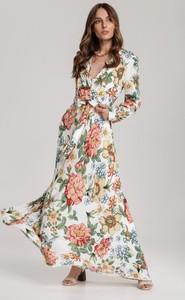 Sukienka Renee w stylu boho z dekoltem w kształcie litery v z długim rękawem