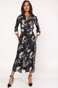 Sukienka Lanti z dekoltem w kształcie litery v koszulowa maxi