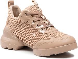 Buty sportowe Carinii ze skóry w sportowym stylu sznurowane