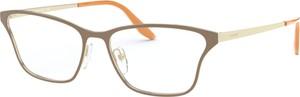 Żółte okulary damskie Prada