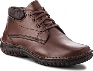 Brązowe buty zimowe Krisbut sznurowane