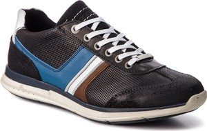 Buty sportowe Togoshi w sportowym stylu ze skóry sznurowane