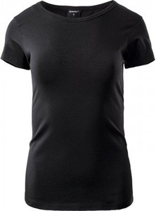 Czarny t-shirt Hi-Tec z okrągłym dekoltem z bawełny z krótkim rękawem