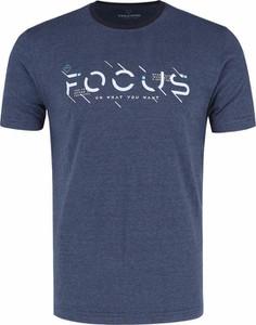T-shirt Volcano z bawełny z krótkim rękawem z nadrukiem