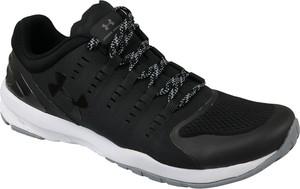 Czarne buty sportowe Under Armour sznurowane z płaską podeszwą