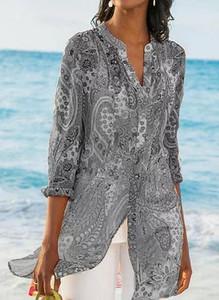 Bluzka Sandbella w stylu boho z dekoltem w kształcie litery v