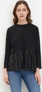Czarna bluzka Mohito z długim rękawem w stylu casual