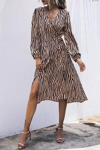 Brązowa sukienka IVET