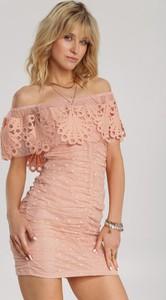 Pomarańczowa sukienka Renee mini trapezowa hiszpanka