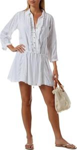 Sukienka Melissa Odabash z dekoltem w kształcie litery v z długim rękawem mini