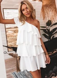 Sukienka SELFIEROOM bez rękawów mini asymetryczna