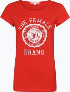T-shirt Tom Tailor Denim z krótkim rękawem z okrągłym dekoltem w młodzieżowym stylu