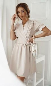 Sukienka Shopaholics Dream mini z długim rękawem z dekoltem w kształcie litery v