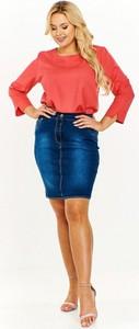 Granatowa spódnica Dejmieto z jeansu