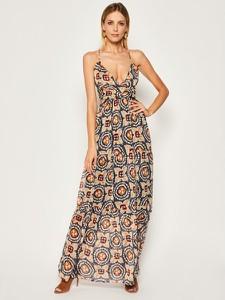 Sukienka Pepe Jeans z dekoltem w kształcie litery v prosta