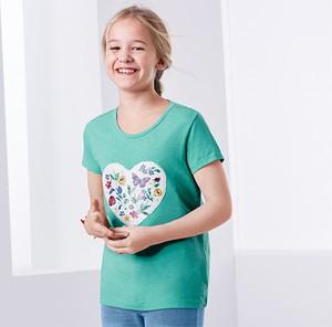 Turkusowa koszulka dziecięca Tchibo
