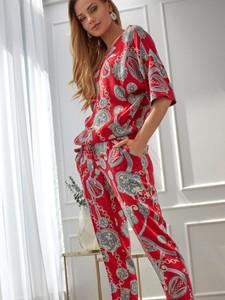 Czerwone spodnie L'AF z jedwabiu