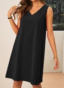 Czarna sukienka Cikelly na ramiączkach