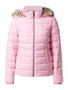 Różowa kurtka Tommy Jeans w stylu casual krótka