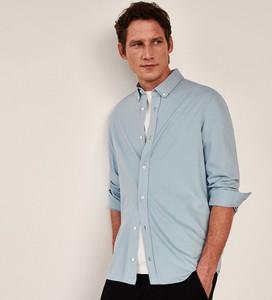Niebieska koszula Reserved z dzianiny z długim rękawem