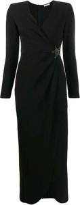 Czarna sukienka P.A.R.O.S.H. z długim rękawem