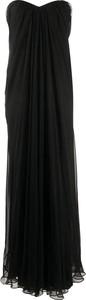 Sukienka Alexander McQueen maxi bez rękawów z dekoltem w kształcie litery v