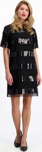 Czarna sukienka Lavard mini z tkaniny