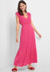 Sukienka ORSAY z dekoltem w kształcie litery v maxi bez rękawów