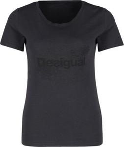T-shirt Desigual w stylu casual z krótkim rękawem