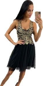 Sukienka Paris rozkloszowana z tiulu na ramiączkach
